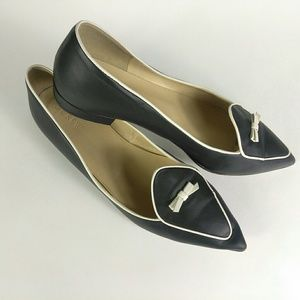 J. Crew Two-Tone Pointed Toe Loafers Size 10
